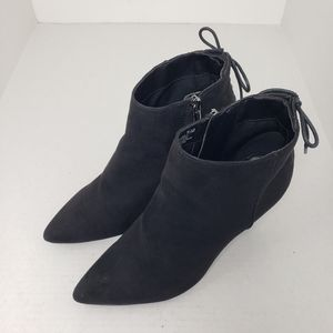 Bandolino BD7KAYDEN Black Pointed Zip Booties 7.5M